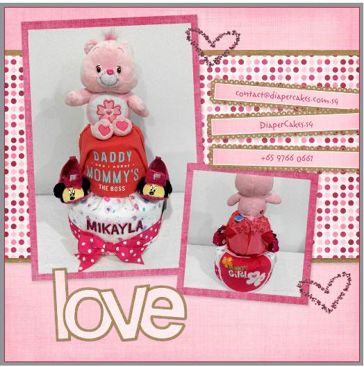 2Tier-DiaperCakesSingapore-BabyGifts-CareBear-Girl-Mikayla-5