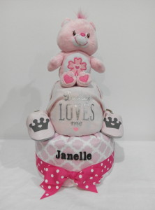 2Tier-DiaperCakesSingapore-BabyGifts-CareBear-Janelle-1