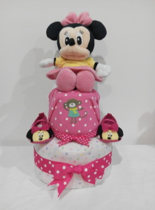 2Tier-DiaperCakesSingapore-BabyGifts-Girl-Minnie-1