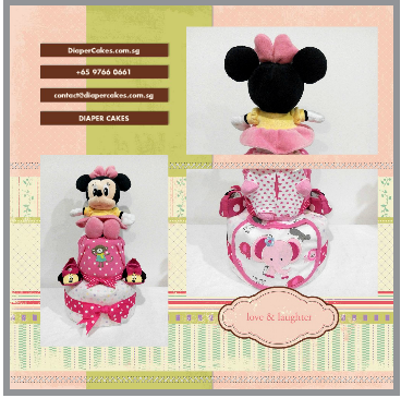 2Tier-DiaperCakesSingapore-BabyGifts-Girl-Minnie5