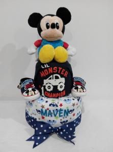 2Tier-DiaperCakesSingapore-BabyGifts-Mickey-Boy-Maven-1