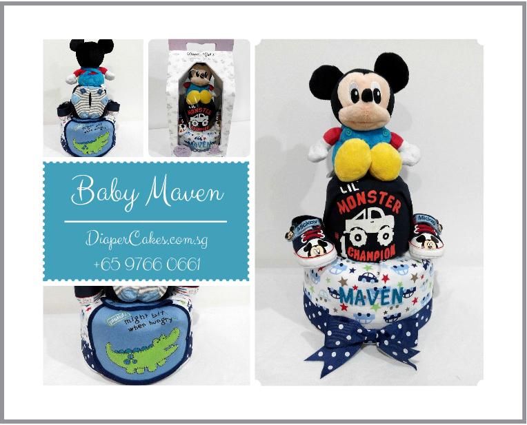 2Tier-DiaperCakesSingapore-BabyGifts-Mickey-Boy-Maven-5
