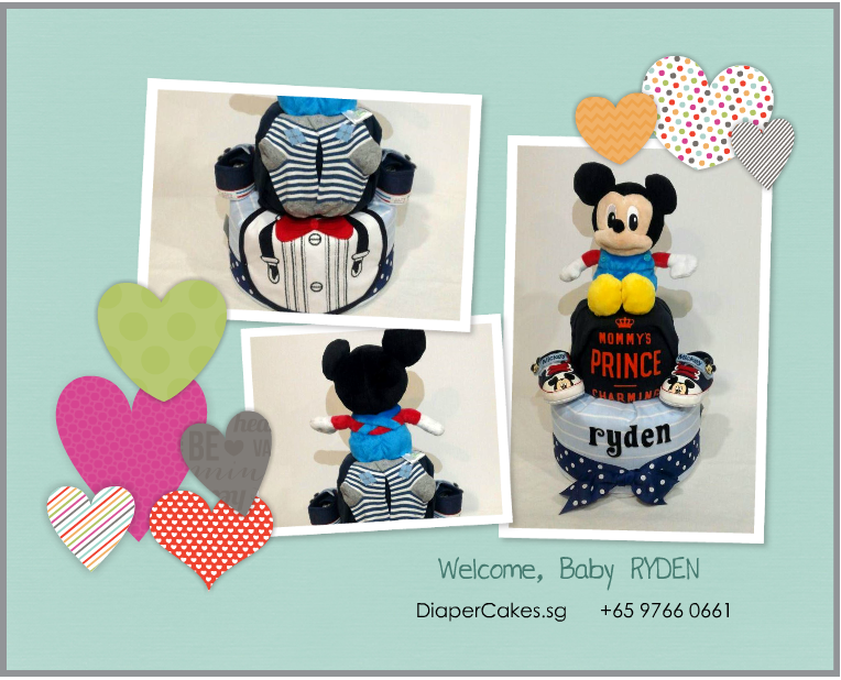 2Tier-DiaperCakesSingapore-BabyGifts-Mickey-Boy-Ryden-5