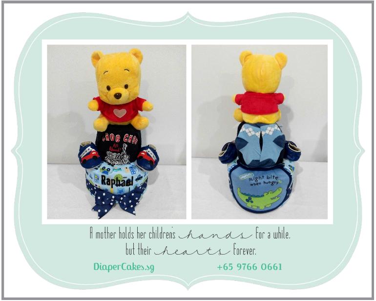 2Tier-DiaperCakesSingapore-BabyGifts-Pooh-Boy-Raphael-5