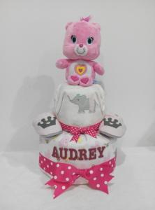 2Tier-DiaperCakesSingapore-BabyGifts-WonderBear-Girl-Audrey-1