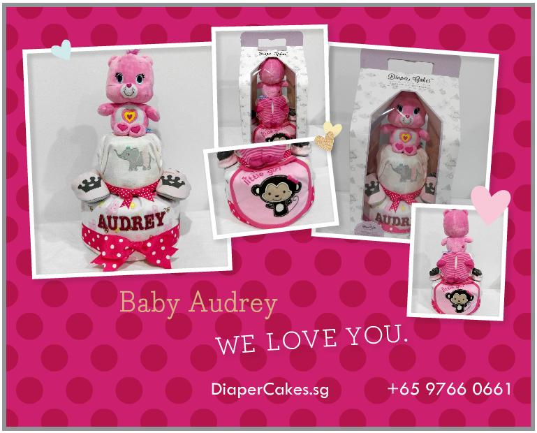 2Tier-DiaperCakesSingapore-BabyGifts-WonderBear-Girl-Audrey-5