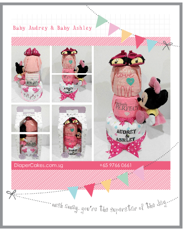 3Tier-DiaperCakesSingapore-BabyGifts-Girl-Twins-Minnie-Audrey-Ashley-5