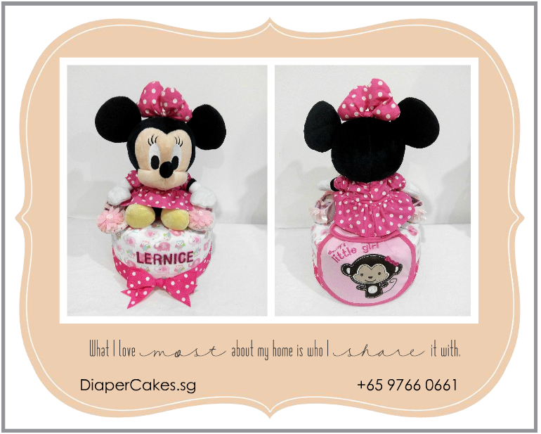 1Tier-DiaperCakesSingapore-BabyGifts-Girl-Minnie-Lernice-5