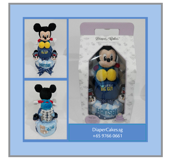 2Tier-DiaperCakesSingapore-BabyGifts-Mickey-Boy-Hansel