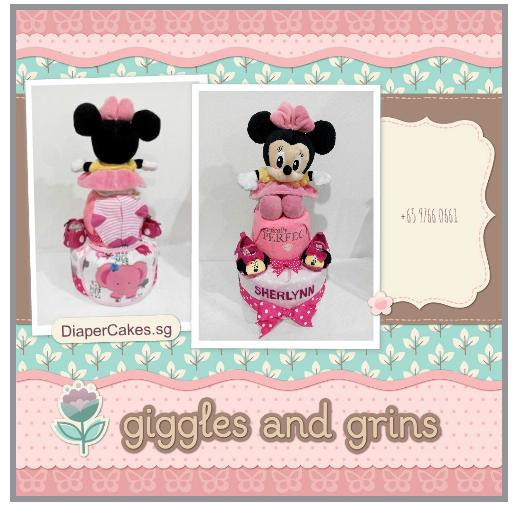 2Tier-DiaperCakesSingapore-BabyGifts-Minnie-Girl-Sherlynn-3