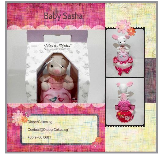 2Tier-DiaperCakesSingapore-BabyGifts-Piglet-Girl-Sasha