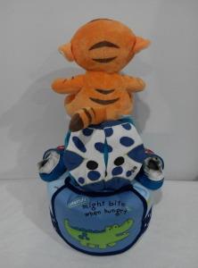 2Tier-DiaperCakesSingapore-BabyGifts-Tiger-Boy-YiAn-2