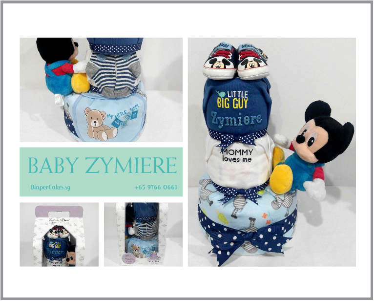 3Tier-DiaperCakesSingapore-BabyGifts-Mickey-Boy-Zymiere-5