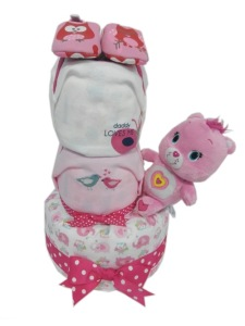 3Tier-DiaperCakesSingapore-BabyGifts-PinkWonderBear-Girl-1