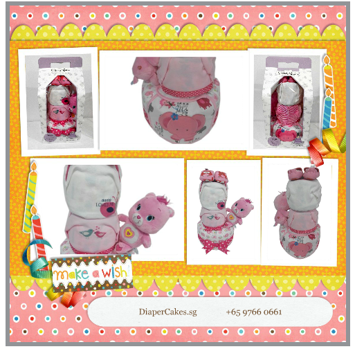 3Tier-DiaperCakesSingapore-BabyGifts-PinkWonderBear-Girl-5