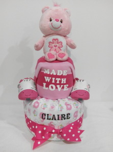 2Tier-BabyGift-DiaperCakesSingapore-BabyGirl-Claire-1