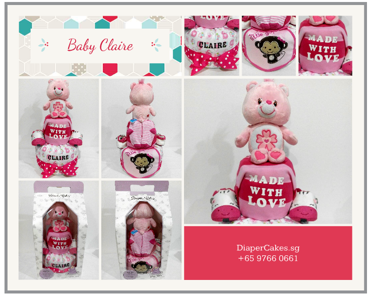 2Tier-BabyGift-DiaperCakesSingapore-BabyGirl-Claire-5