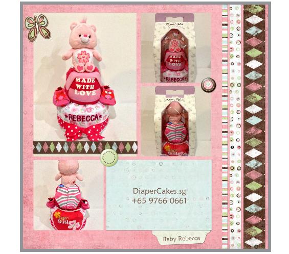 2Tier-BabyGift-DiaperCakesSingapore-BabyGirl-Rebecca-5