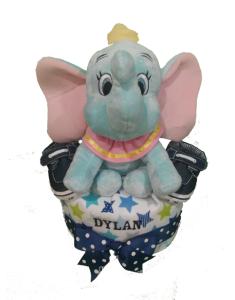 1Tier-DiaperCakesSingapore-BabyGift-Elephant-BabyBoy-Dylan-1