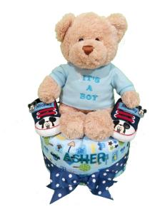 2Tier-BabyGift-DiaperCakesSingapore-BabyBoy-Asher-1