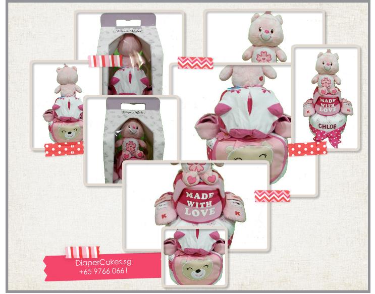 2Tier-BabyGift-DiaperCakesSingapore-BabyGirl-Chloe-5
