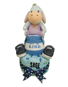 2Tier-DiaperCakesSingapore-BabyGift-Eeyore-BabyBoy-Sage-1