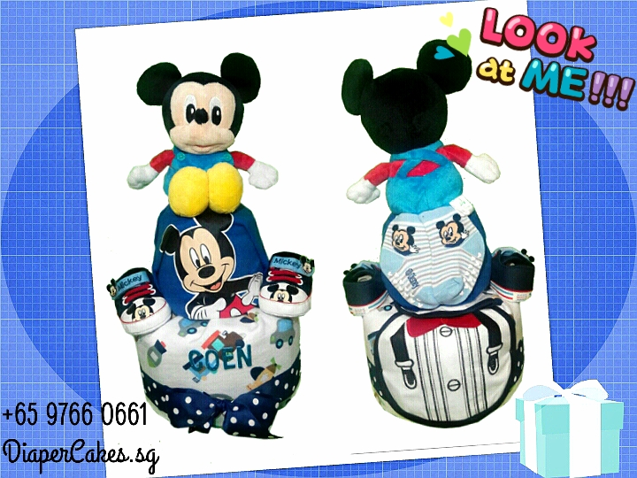 2Tier-DiaperCakesSingapore-BabyGift-Mickey-BabyBoy-Coen-3