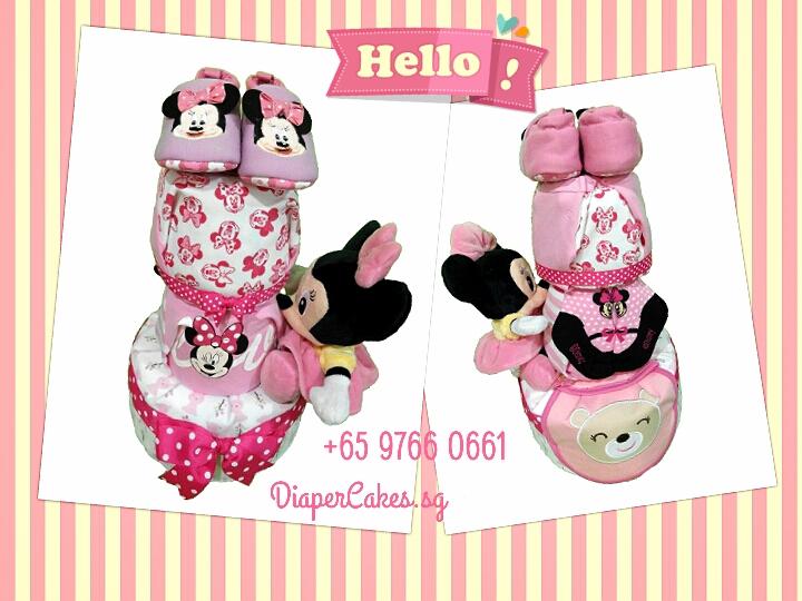 3Tier-DiaperCakesSingapore-BabyGift-Minnie-BabyGirl-3