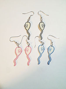 Sperm Earrings