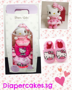 Hello Kitty 2 Tier Diaper Cake / Last Minute Baby Gifts
