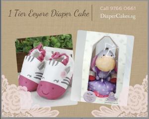 Cute 1 Tier Eeyore Diaper Cake