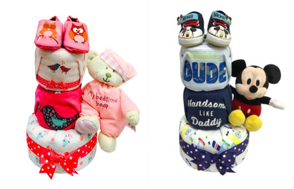 3 Tier Diaper Cake baby Gift hampers