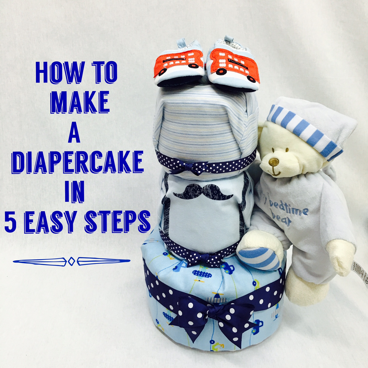 How to make a diaper cake in 5 steps