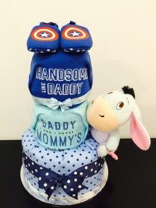 3 Tier Eeyore Diaper cake / How To Entertain Your Toddlers At Birthday Parties