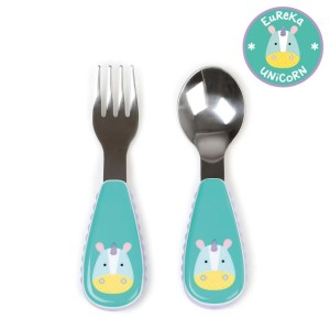 skiphop-zootensils-kids-fork-and-spoon-unicorn_3 / 10 baby gifts under $10