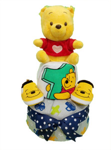 2TierPoohDiaperCakeFor1YearOld / Top 20 Baby Gifts In Singapore