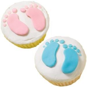 baby-footprint-cupcakes / Baby Shower Cupcakes