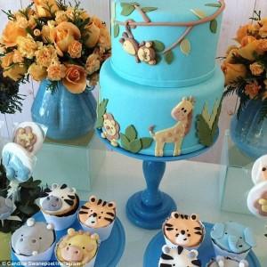 Candice Swanepoel 2 Tier Animal Cake Celebrity Baby Showers