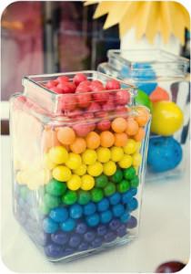 rainbow-gumballs- baby shower decoration ideas