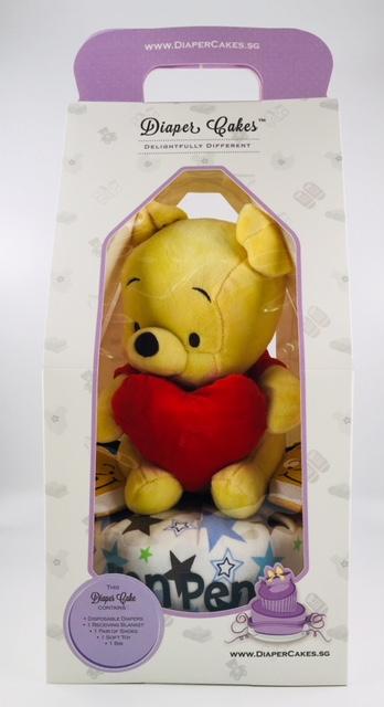 1 tier winnie the pooh diaper cake 2
