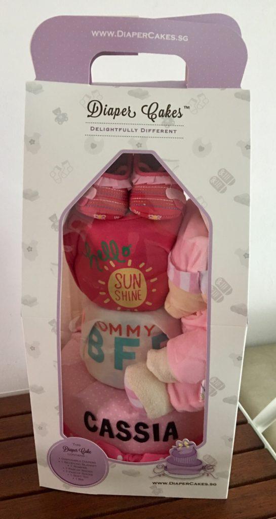 3 Tier Diaper Cake Baby Gift for Girl