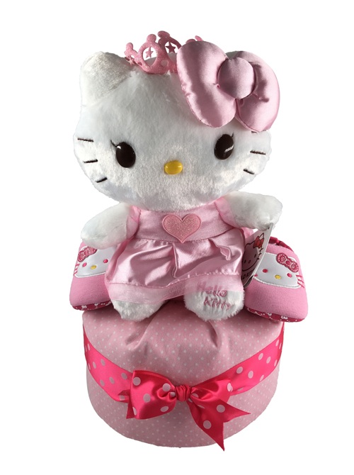 1 tier Hello Kitty Diaper Cake Baby Gifts