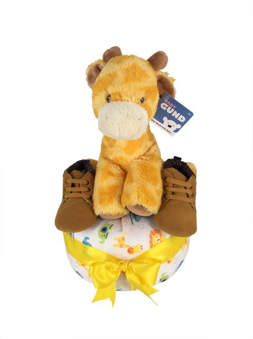 Giraffe Toy Baby gift diaper cake