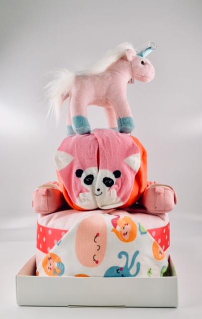 unicorn baby diaper cake 2