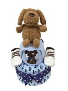 dog diaper cake baby shower