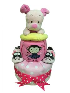 piglet toy diaper cake