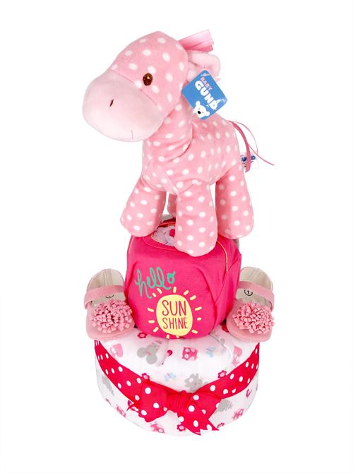 pony diaper cake baby shower